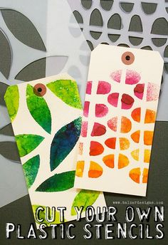 Use plastic to make your own stencils. Gloucestershire Resource Centre http://www.grcltd.org/scrapstore/