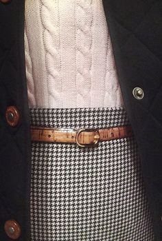 wishinyouthelillylife: Houndstooth, cork and cable knit