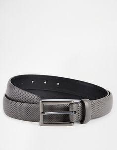 ASOS – Eleganter Gürtel aus grauem Kunstleder mit Perforierungen 14,95 € auf www.asos.de