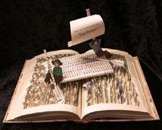 Jody Harvey Brown recrea en sus esculturas dragones y castillos, cuentos de hadas, personajes de Tom Sawyer, La isla del tesoro o Alicia en el país de las maravillas... http://www.jodiharvey-brown.com/