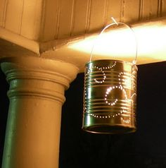 Tin can punch lantern from LinenSkys $9.99