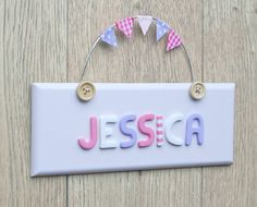 Personalised Vintage Style Door Sign by LittleBumpkins, the perfect gift for Explore more unique gifts in our curated marketplace. Craft Letters, Letter A Crafts, Bedroom Door Signs, Room Signs, Door Plaques, Name Plaques, Bedroom Kids, Kids Room, Wooden Name Plates