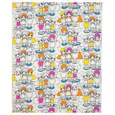 ULLABELLA Fabric - IKEA, hand drawn illustration of girls,