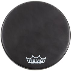 Remo Black Suede PowerMax Series Bass Drumhead with Crimplock Matte Bl