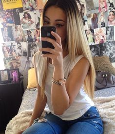 Black roots blond ombre