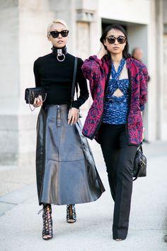 Paris Fashion Week Zana Bayne leather choker