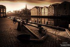 Trondheim Nidelva Norway by Aziz Nasuti on Trondheim, Railroad Tracks, Norway, Places Ive Been, Places To Visit, Black, Black People, Places Worth Visiting