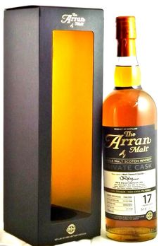 Arran 17 Year Old ○ a nice spirit with a demer, pears and very malty nose, a spicy vanilla hazelnut pallet; and a fine balanced finish that is very malty with a vanilla trace. Well done Mr. Mark Cassidy a most excellent cask...