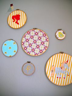 Project Nursery - Embroidery Hoop Wall Hangings