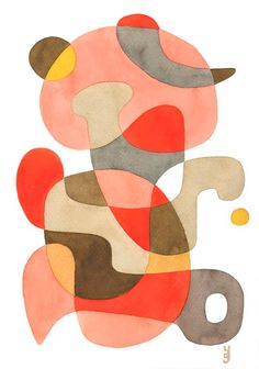 Large Abstract print Abstract art poster by YolantaPrints on Etsy, $39.00