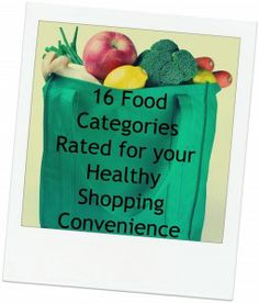 16 Food Categories Rated for your Healthy Shopping Convenience & Healthy Eating Guidelines - Happier in Health Healthy Eating Guidelines, Healthy Shopping, Food Categories, Board, Sign