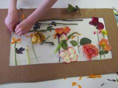 Creating flowers from a bouquet of flowers...