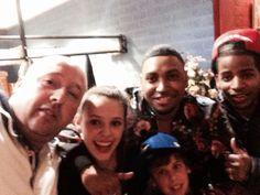 Familie selfie met de rappers Gio & Keizer