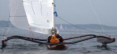 Sailing kayak / sea / trimaran - LWTANDEM - Warren Light Craft - Videos Sailing Kayak, Canal Boat, Narrowboat, Light Crafts, Small Boats, Boat Building, Rowing, Craft Videos, Canoe