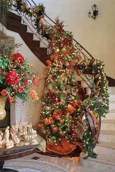 Tuscan home Christmas
