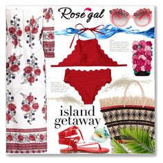 """""""New Contest :: Chic Island Getaway"""" by jecakns ❤ liked on Polyvore featuring Sensi Studio and Kate Spade"""