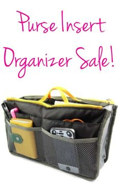 Purse Insert Organizer Sale: $3.70 shipped!! {take control of the clutter in your purse!} #purses #organizing #thefrugalgirls