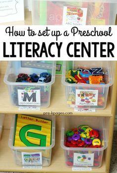 How to Set Up Your Preschool Alphabet Literacy Center
