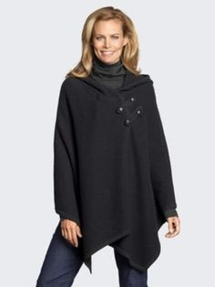 HOODED BOILED WOOL KNIT CAPE in Holiday 2012 from Pendleton on shop.CatalogSpree.com, my personal digital mall.