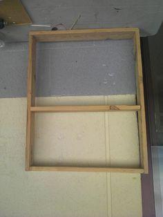 armamos un cuadrante y colocamos los estantes que queramos