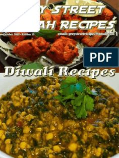 Grey Street Casbah Recipes (Diwali) - October 2015 Diwali Food, Eggless Baking, On October 3rd, June, Curry Recipes, Chutney, Indian Food Recipes, Free Food, Dessert Recipes