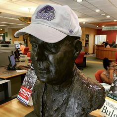 #FrBart had a photo shoot today. He decided to show his #Stonehill pride! #StonehillLibrary