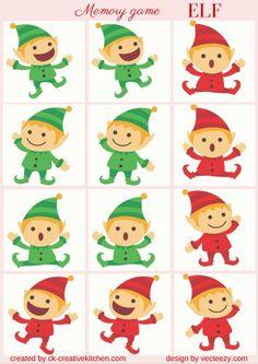 #CHRISTMAS - #MEMORY #GAME FREE PRINTABLE