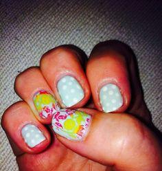 gelish nails & moyou stamping