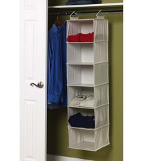 Hanging Self Organizers are the perfect option for breaking up closet space for a more functional and organized look