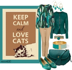 """Keep Calm and Love Cats! ^..^"" by tezza630 on Polyvore  02.23.2013"