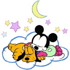 Mickey_The_Mouse_And_Pluto_Sleeping