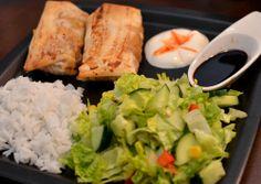 Middager (Bakekona) Fresh Rolls, Dinner, Ethnic Recipes, Food, Blogging, Dining, Food Dinners, Essen, Meals
