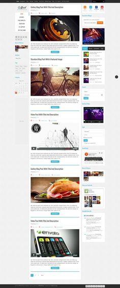 Este es un poco blog pero sirve para ilustrar el concepto de flat design + contenido