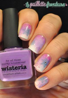 piCture pOlish 'Wisteria' snowlfake mani art by La Paillette Frondeuse! Shop on-line now: www.picturepolish.com.au