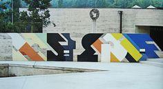 graphics + concrete works at Basel School of Design by Armin Hofmann (1960's)