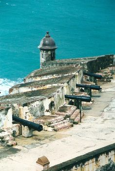 Fortress is Castillo San Felipe del Morro, San Juan - Puerto Rico
