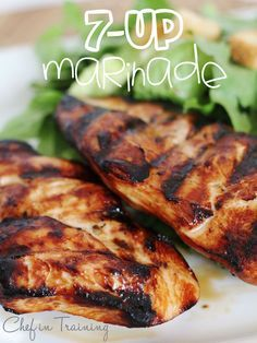 Easy 7-Up Marinade! This recipe is amazing and my FAVORITE marinade for chicken!  http://www.chef-in-training.com/2012/06/easy-7-up-marinade/  #chicken #grill #marinade