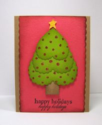 Christmas Tree Card - Free Christmas crafts don't get more festive than this handmade card idea, and its super easy too!