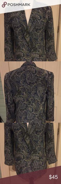 Selling this Evan Picone Petites Vintage Blue Paisley Blazer on Poshmark! My username is: jkwood1022. #shopmycloset #poshmark #fashion #shopping #style #forsale #Evan Picone #Jackets & Blazers