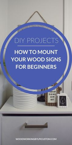 Need to hang your wood signs?  Get all the information on how to mount or hang your wood signs.  Use the proper hanging hardware and ensure your wood signs are displayed safely.    Your wood sign DIY and wood DIY crafts are easy to hang with these methods and techniques.  Brought to you by Woodworking By LPI for the purpose of providing information on how to mount/hang your wood sign DIY ideas and wood crafts to make. #woodsigndiy #wooddiycrafts #woodcraftstomake #woodworkingbylpi Diy Wood Signs, Painted Wood Signs, Wood Siding, Vinyl Siding, Shop Ideas, Diy Ideas, Crafts To Make, Diy Crafts, Wood Gifts