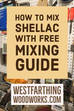 This is How to Mix Shellac Flakes With a Mixing Chart. Shellac is a really fun woodworking finish that you can mix yourself. Woodworking Education, Woodworking Books, Woodworking Finishes, Shellac Finish, Shellac Colors, Canning Jars, Glass Jars, Make It Simple