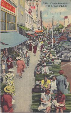 On the SIDEWALKS of St PETERSBURG FLORIDA by AgnesOfBohemia, $4.00