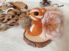 Squirrel Felting Kit Needle Felting Kit Squirrel Felting | Etsy All You Need Is, Beginner Felting, Cute Squirrel, Needle Felting Kits, Starter Kit, Wool Felt, Objects, Teddy Bear, Make It Yourself