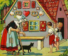 **ALT** Großes Märchenblatt   Hänsel & Gretel