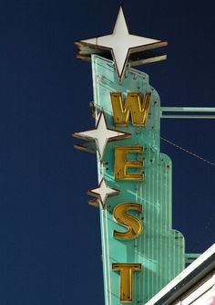 'Marquee Star', by Dave van Hulsteyn. The West Theater, Route 66 in Grants, New Mexico.