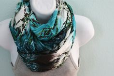 Multicolored Abstract Infinity Scarf by etceteraANDetc on Etsy, $19.00