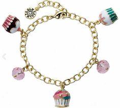 cupcake accessories for women   Bitz of Glitz - Charming Cupcake Charm Bracelet