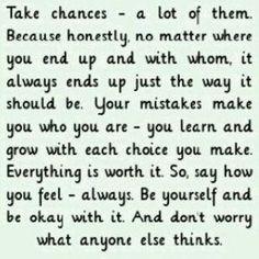 take. chances.