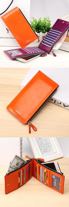 US$11.76+Free shipping. Women's Wallet, Phone Wallets, Card Holder, Coin Bags, Long Purse. Waxy, Ultrathin, Leather, Color:Black, Blue,Coffee, Brown, Red, Green, Orange, Rose Red.