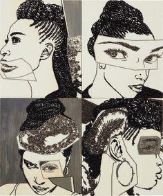Mickalene Thomas | Hair Portrait 16 (2013) | Artsy